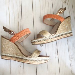 Vince Camuto Cork Wedges 9.5